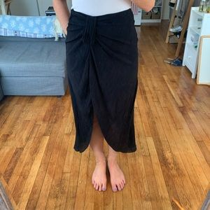 Black sarong style midi skirt from Other Stories